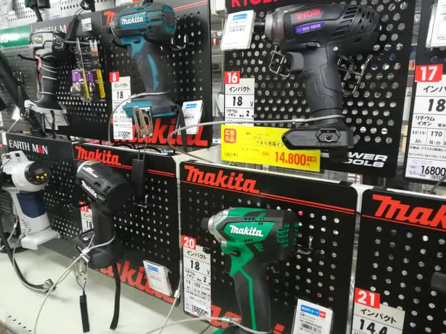 Some of my favorite Japanese tool brands - Makita, Ryobi...