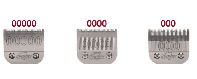 Oster 76 blades: a chart, and how 0000 vs 00000 sizes differ