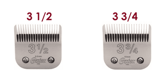 Oster 76 detachable blades explained: Using the 3 1/2 and 3 3/4 for general cuts.